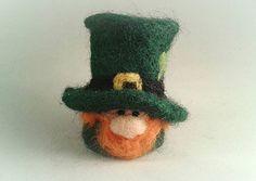 Needle Felted Leprechaun St Patrick's Day Lucky Charm