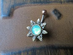 Hey, I found this really awesome Etsy listing at https://www.etsy.com/listing/207676816/mint-green-opal-starburst-belly-button