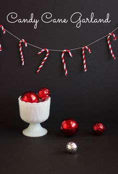 Candy Cane Garland - made from pipe cleaners!