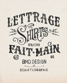 hand done typography / graphic design / clothing / fashion / style