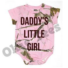Grandpa's Little Girl - Pink Realtree Camo Infant Bodysuit -Baby Onesie - Creeper