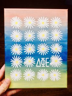 daisy canvas art #color #art #inspiration