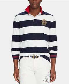 df88bb48dcc Polo Ralph Lauren Men Big & Tall Classic-Fit Striped Rugby Shirt Big & Tall