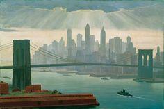 New York :  Edward Hopper  :  circa 1944  : Fine Art Giclee Print #Realism