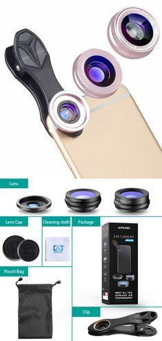 Mini Clip-on Optic Cell Phone Camera Lens Kit Phone Lens, Camera Lens, Smart Watch, Mini, Smartwatch