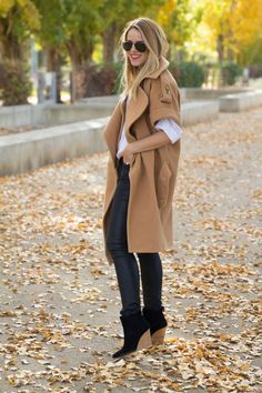 Perfect fall/winter staple: The camel coat. Utterly chic and timeless.
