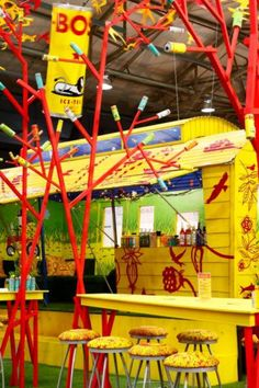 The Bos Iced Tea stand at Decorex Durban - so bright and cheerful.