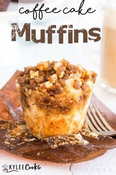These light, tender coffee cake muffins have a secret ingredient in the batter, and are topped with a walnut streusel. They are perfect for breakfast, brunch, or a coffee date. Or right now. This recipe is essentially a mini version of a traditional coffee cake, but are easier to grab and go. The bonus is that they are portion controlled! Strawberry Muffin Recipes, Healthy Muffin Recipes, Delicious Breakfast Recipes, Healthy Baking, Yummy Food, Yummy Treats, Pastry Recipes, Baking Recipes, Dessert Recipes