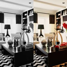 Black and white floor by Mary McDonald.