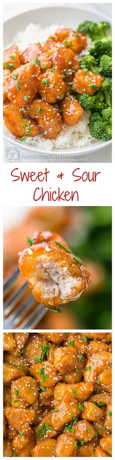 You have to try this Sweet and Sour Chicken Recipe – healthier and tastier than any takeout! @natashaskitchen
