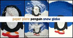 Instead of playing with dangerous and messy snow globes, kids can make their own paper plate penguin snow globe using a paper plate and some craft supplies! Kindergarten Reading Activities, Kindergarten Lesson Plans, Classroom Crafts, Preschool Kindergarten, Easy Preschool Crafts, Crafts For Kids, Hands On Activities, Craft Activities For Kids, Snow Globe Crafts