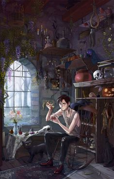 Concept Art Writing Prompt: The Witch's Son – Art Drawing Tips Art And Illustration, Fuchs Illustration, Fantasy Kunst, Fantasy Art, Fantasy Concept Art, Character Inspiration, Character Art, Male Witch, Klarion The Witch Boy