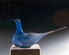 Blue glass dove.  1st century AD.  Pavia, Musei Civici Del Castello Visconteo (Archaeological, History And Art Museum)