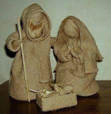 Resultado de imagen para decoracion navideña en arpillera