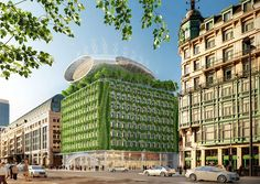 vincent callebaut proposes to green brussels' botanic center