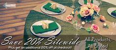Tablecloths Factory - great site for inexpensive tablecloths