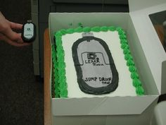 """""""Hi, I need to order a cake for my boss. We have a photo of him playing golf that we'd like to put on it, though - can you do that?""""    """"Of course! Just bring the photo in on a USB drive and we'll print it out here.""""    """"Great, I'll bring it by this afternoon.""""    Later...    """"Hey, Jill, what am I putting on this cake?""""    """"Oh, check the counter; I left the jump drive out for you there.""""    [calling from the back room] """"Really? This is what they want on the cake?""""    """"Yeah, the customer just..."""