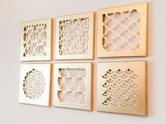 Super easy DIY for home decor. Gold canvas cut-outs... Yes PLEASE!! #DIYHomeDecorGold