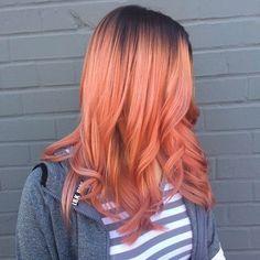 Cheveux Pêche-Peach Hair, lecoloriste