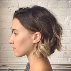 One of the sides of @amandaknorr short cut. She is always my favorite bob to cut