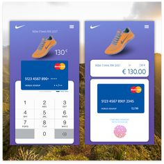 Credit Card Submit Form -  Mobile app design in 100 day DAILY UI CHALLENGE