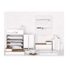 KVISSLE Kannellinen laatikko, 4 kpl IKEA Sopivat erinomaisesti kynien, muistilehtiön, käyntikorttien jne. säilyttämiseen.