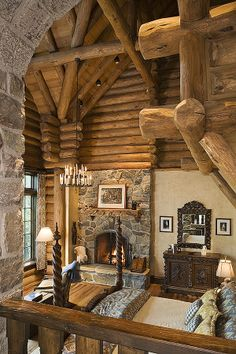 Special bedroom - put another log on the fire!