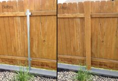 got metal fence posts diy garden project cure metal fence posts garden projects and diy Pallet Fence, Diy Fence, Backyard Fences, Garden Fencing, Fence Ideas, Fence Gate, Diy Pallet, Fancy Fence, Wood Privacy Fence