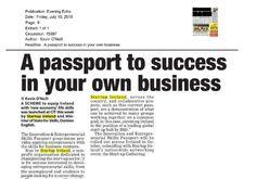"Cork: Evening Echo- ""New economy"" life skills scheme launched by Startup Ireland."