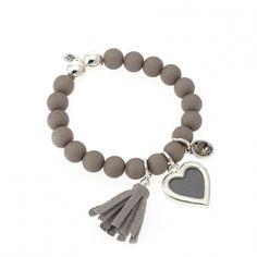 """Biba"" armband grijs swarovski | Armbanden | HippeSieraden.com"