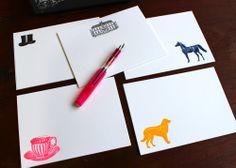 Downton Abbey Letterpress Stationery set? Yes!