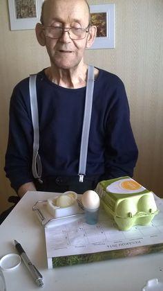 Keitetty kananmuna oli tämän päivän valinta ja hyvälle maistuu!