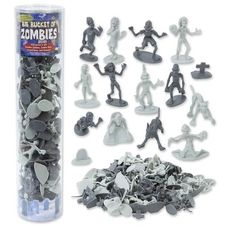 Zombie Action Figures - Big Bucket of 100 Zombie - Includes Zombies, Zombie Pets, Gravestones, and Humans! SCS Direct http://www.amazon.com/dp/B00KBHVSTY/ref=cm_sw_r_pi_dp_zz-mub0BR1YBZ