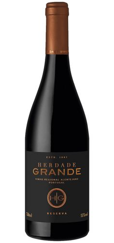Herdade Grande Reserva is a red wine produced at Alentejo region. Herdade Grande is an agricultural property located about from Vidigueira / Alentejo Red Wine, Barrel, Portugal, Alcohol, Drinks, Bottle, Wine Bottle Labels, Homestead, Paraty