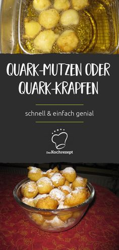 Quark hats or curd fritters - Whether you call them quark hats, donuts or balls, this treat is always a sin! Also suitable as a sweet party snack. # donuts # scoops # fried Quark hats or curd fritters DasKochrezept. Paleo Cupcakes, Snacks Für Party, Keto Snacks, Healthy Snacks, Donuts Vegan, Baked Donuts, Beignets, Donut Recipes, Cake Recipes