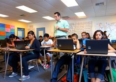 The Elevate math summer school program provides students with three hours of instruction from a specially trained, certified teacher and one hour of work in an online program known as the Khan Academy. The teacher assists and assess student progress during the hour of individual work on the computer.