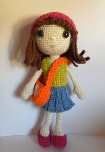 Emily the dress up doll, free pattern