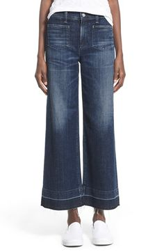 A Gold E 'June' Crop High Rise Flare Jeans (Mansfield) available at #Nordstrom