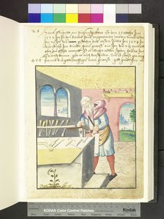 Carpenter and carpentry tools  Die Hausbücher der Nürnberger Zwölfbrüderstiftungen