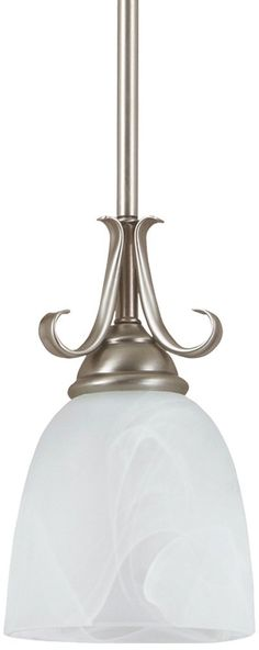Sea Gull Lighting 61316-965 Pendant with Cafe Tint Glass Shades, Antique Brushed Nickel Finish - Ceiling Pendant Fixtures - Amazon.com