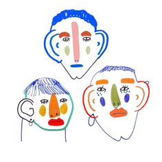 faces by illustrator Ashley Percival.