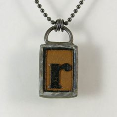 Letter R Pendant Necklace by XOHandworks $25