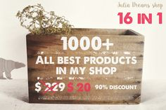 1000+ objects [90% OFF] by Julia Dreams on Creative Market