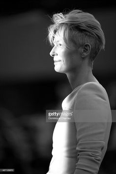 Actress Tilda Swinton attends a premiere for 'A Bigger Splash' during the 72nd Venice Film Festival on September 6, 2015 in Venice, Italy.