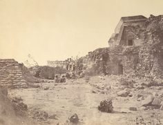 The Jantar Mantar observatory in Delhi, damaged in the Indian Mutiny fighting