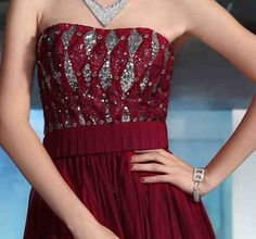 Red And Silver Wedding Dresses 1