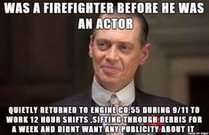 Steve Buscemi is my hero. Faith in humanity restored. What A Wonderful World, Human Kindness, Kindness Matters, Gives Me Hope, Wtf Fun Facts, Epic Facts, Crazy Facts, Funny Facts, Good People
