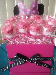 Marshmallow Pops, Minnie Mouse Favors, Kids Party Favors, Dessert Station - 1 dozen on Etsy, $15.00