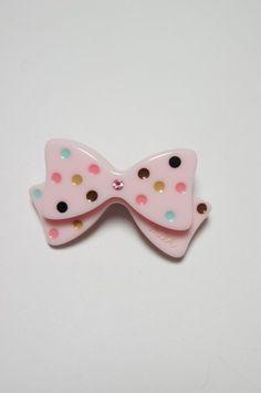 Milk: Ribbon barrette in pink