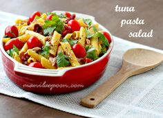 For a quick, healthy and yummy lunch - this Tuna Pasta Salad never fails! It's gluten-free, too! #gluten #free #tuna #pasta #salad